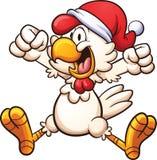 Pollo di Natale Fotografia Stock