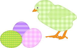 Pollo di Pasqua della rappezzatura immagine stock