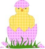 Pollo di Pasqua della rappezzatura immagini stock libere da diritti