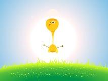 Pollo di Pasqua della sorgente Fotografia Stock Libera da Diritti