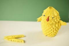 pollo di pasqua di origami 3D Immagini Stock Libere da Diritti