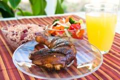 Pollo di scatto con le verdure immagine stock