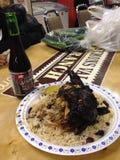 Pollo di scatto e birra del messicano immagine stock libera da diritti