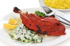 Pollo di Tandoori, piatto indiano Fotografia Stock Libera da Diritti