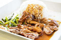 Pollo di Teriyaki Fotografia Stock