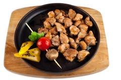 Pollo di Teriyaki con le verdure Fotografie Stock Libere da Diritti