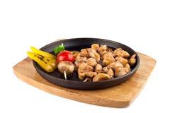 Pollo di Teriyaki con le verdure Fotografia Stock
