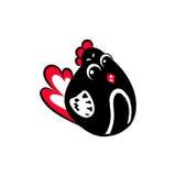 Pollo divertente con i grandi occhi royalty illustrazione gratis