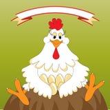 Pollo divertido stock de ilustración