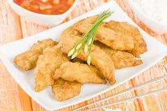 Pollo dolce & acido Immagini Stock Libere da Diritti