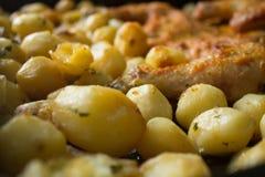 Pollo e patata Fotografia Stock Libera da Diritti