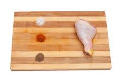 Pollo e spezie Immagini Stock