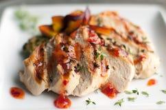 Pollo e verdure Immagini Stock
