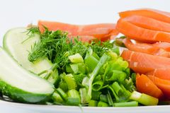 Pollo e verdure affumicati Fotografia Stock Libera da Diritti
