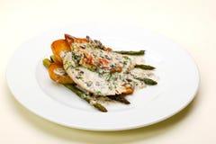 Pollo ed asparago Fotografia Stock Libera da Diritti