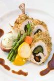 Pollo ed asparago impanati Immagini Stock Libere da Diritti