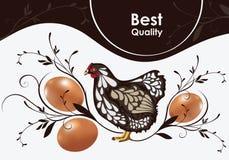 Pollo ed uova royalty illustrazione gratis