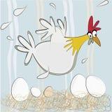 Pollo ed uova Immagini Stock Libere da Diritti
