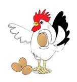 Pollo ed uova Immagine Stock Libera da Diritti