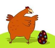 Pollo ed uovo di Pasqua Fotografia Stock
