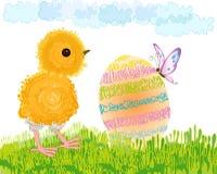 Uovo di Pasqua E del pollo Immagine Stock