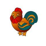 Pollo en el Año Nuevo Imagen de archivo