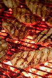 pollo en el fuego con las chispas Imágenes de archivo libres de regalías