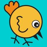 Pollo en estilo de la historieta stock de ilustración