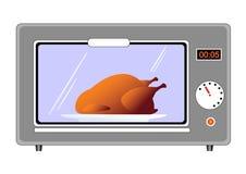 Pollo en horno ilustración del vector