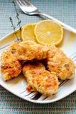 Pollo en migajas de pan del ajo Fotografía de archivo libre de regalías
