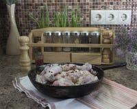 Pollo en salsa de mostaza Fotos de archivo