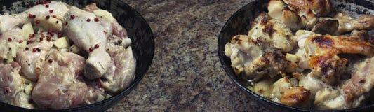 Pollo en salsa de mostaza Imagenes de archivo