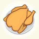 Pollo en una placa Imagen de archivo libre de regalías