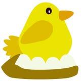 Pollo en vector de la jerarquía Imagenes de archivo