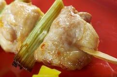Pollo ensartado japonés, Yakitori Imagen de archivo libre de regalías