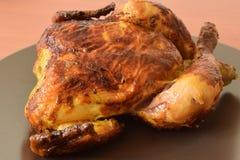 Pollo entero asado Fotografía de archivo