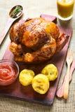 Pollo entero asado Foto de archivo libre de regalías