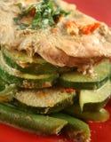 Pollo escalfado verde tailandés Foto de archivo libre de regalías