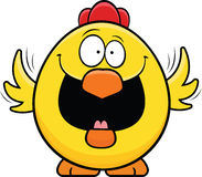 Pollo felice del fumetto Immagini Stock Libere da Diritti