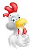 Pollo feliz de la historieta Fotos de archivo libres de regalías