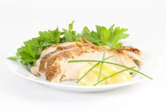 Pollo freddo del limone di servire Immagine Stock Libera da Diritti