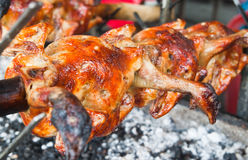 Pollo fresco de la barbacoa Imagenes de archivo