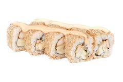 Pollo fresco del rollo del sushi Foto de archivo