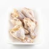 Pollo fresco isolato su fondo bianco Fotografia Stock