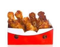 Pollo frito Imagenes de archivo