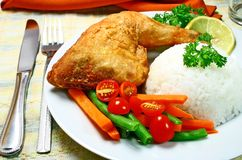 Pollo frito Imagen de archivo