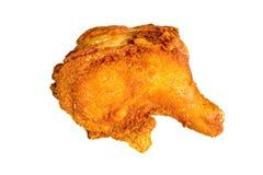 Pollo frito aislado en blanco imagen de archivo libre de regalías