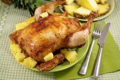 Pollo frito con Annas fotografía de archivo libre de regalías