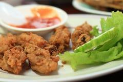 Pollo frito con la sal Imagen de archivo