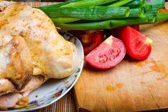 Pollo frito con los vehículos Foto de archivo libre de regalías